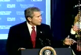 Still frame from: George W. Bush 20021023