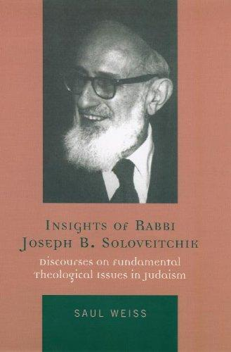 Download Insights of Rabbi Joseph B. Soloveitchik