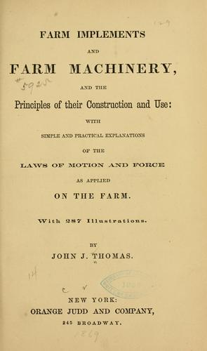 Download Farm implements and farm machinery, and the principles of their construction and use