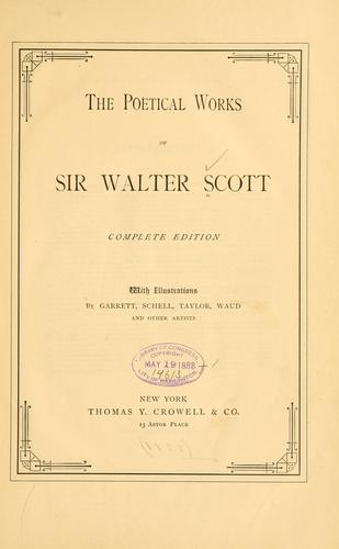 Download The poetical works of Sir Walter Scott.
