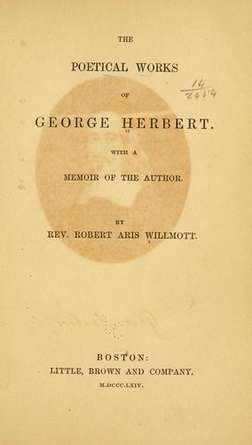 The poetical works of George Herbert.