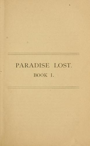 Paradise lost; books I and II.