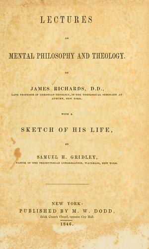 Download Lectures on mental philosophy and theology.