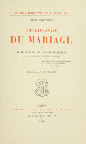 Download Physiologie du mariage