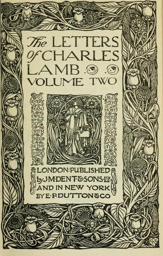 The letters of Charles Lamb.