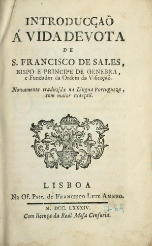 Introducçaõ á vida devota de S. Francisco de Sales