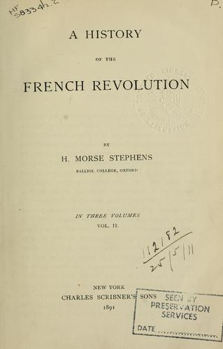 Download A history of the French Revolution.