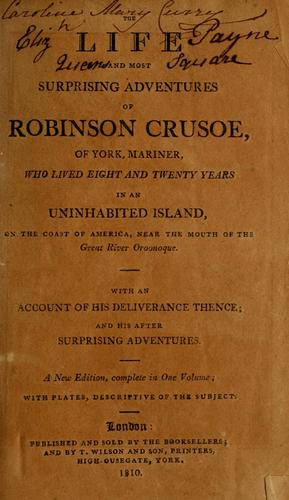 Download The life and most surprising adventures of Robinson Crusoe, of York, mariner