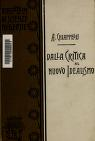 Cover of: Dalla critica al nuovo idealismo.