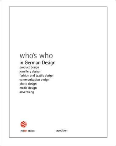 Who's Who in German Design by Peter Zec