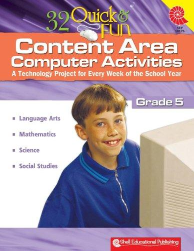 32 Quick & Fun Content Area Computer Activities Gr. 5 by Miriam Myers