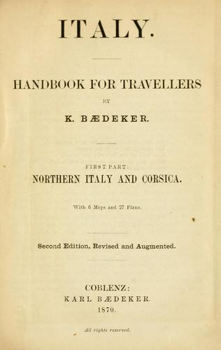Italy by Karl Baedeker (Firm)