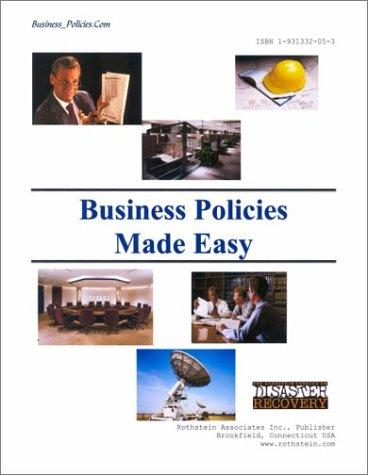 BUSINESS POLICIES MADE EASY (with CD) by Edmond D. Jones