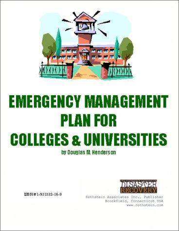 Emergency Management Plan for Colleges & Universities on CD-ROM by Douglas M. Henderson