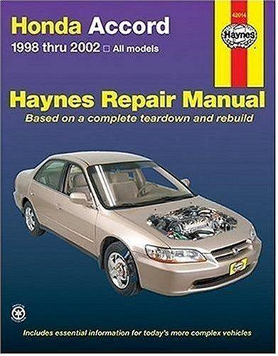 Haynes Honda Accord 1998 thru 2002 by John Harold Haynes
