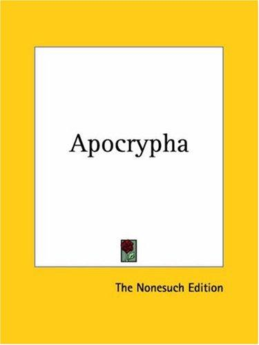 Apocrypha by The Nonesuch Edition