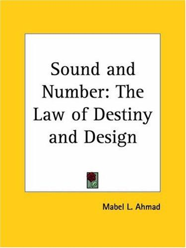 Sound and Number by Mabel L. Ahmad